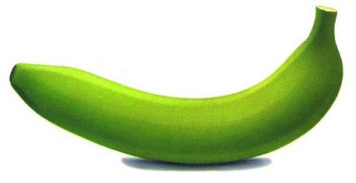Start with a fresh green banana
